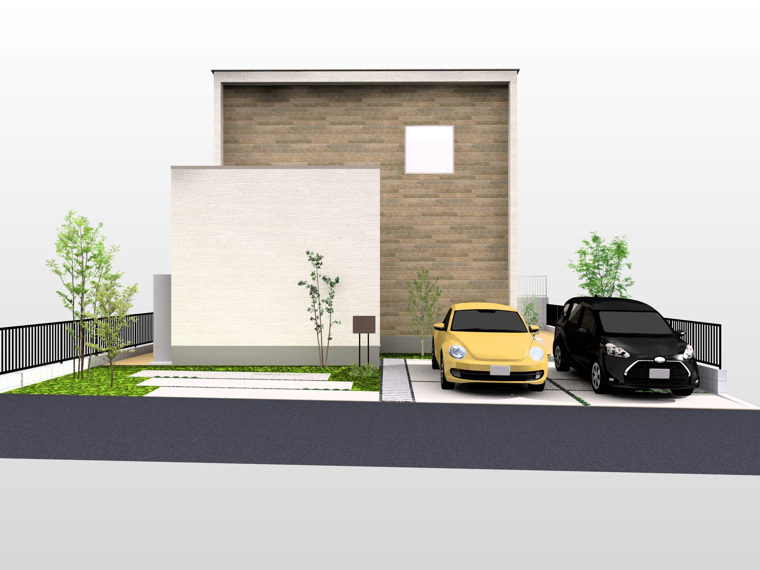 嬉野市新築建売住宅「OURS下野2号地」外観パース