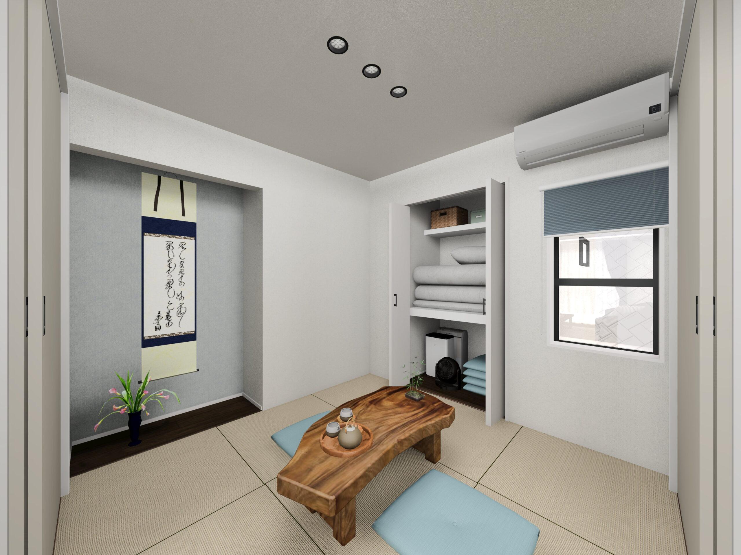 武雄市武雄町新築建売住宅「OURS甘久 3号地」和室パース