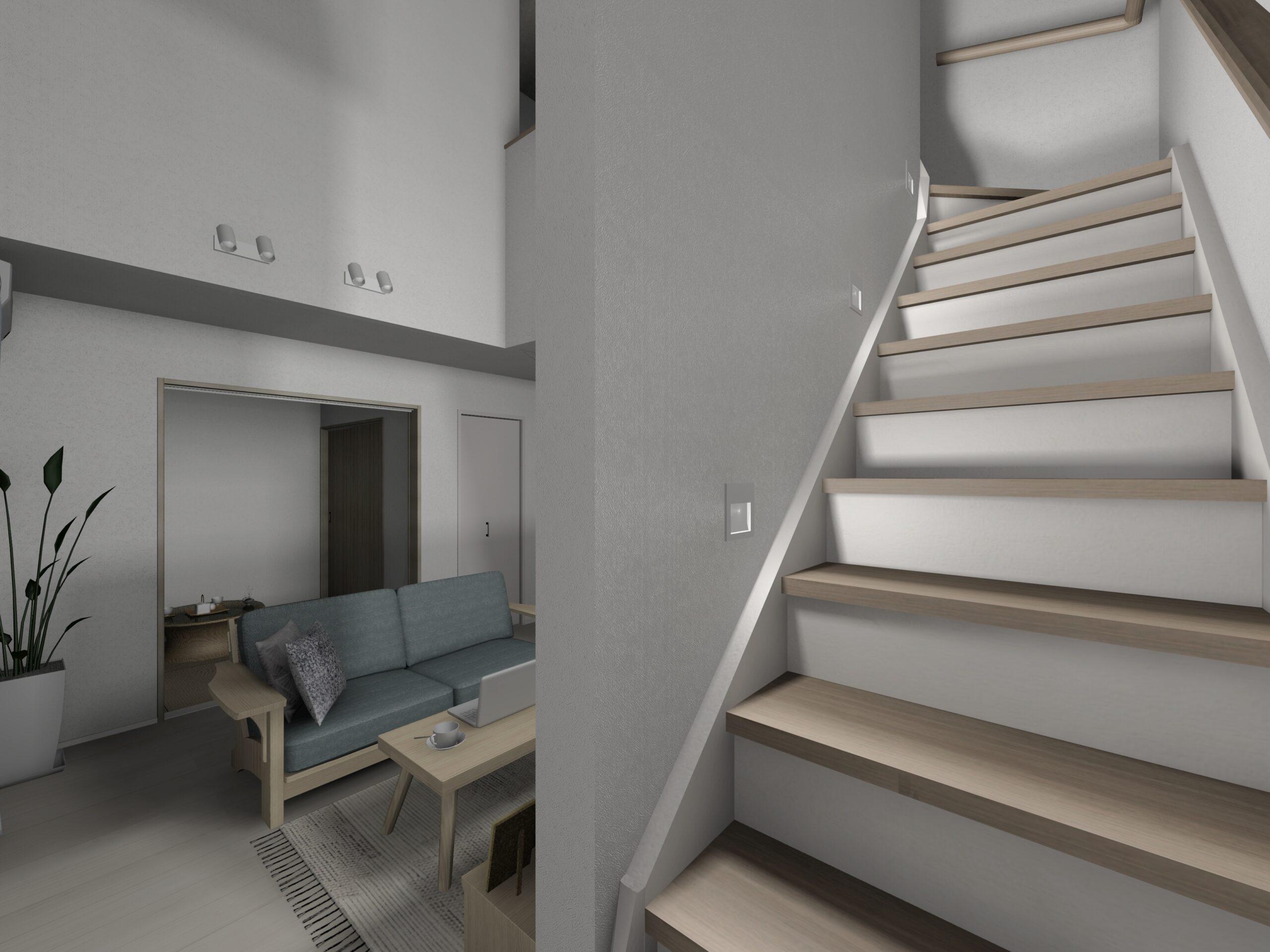 武雄市新築住宅OURS甘久1号地階段