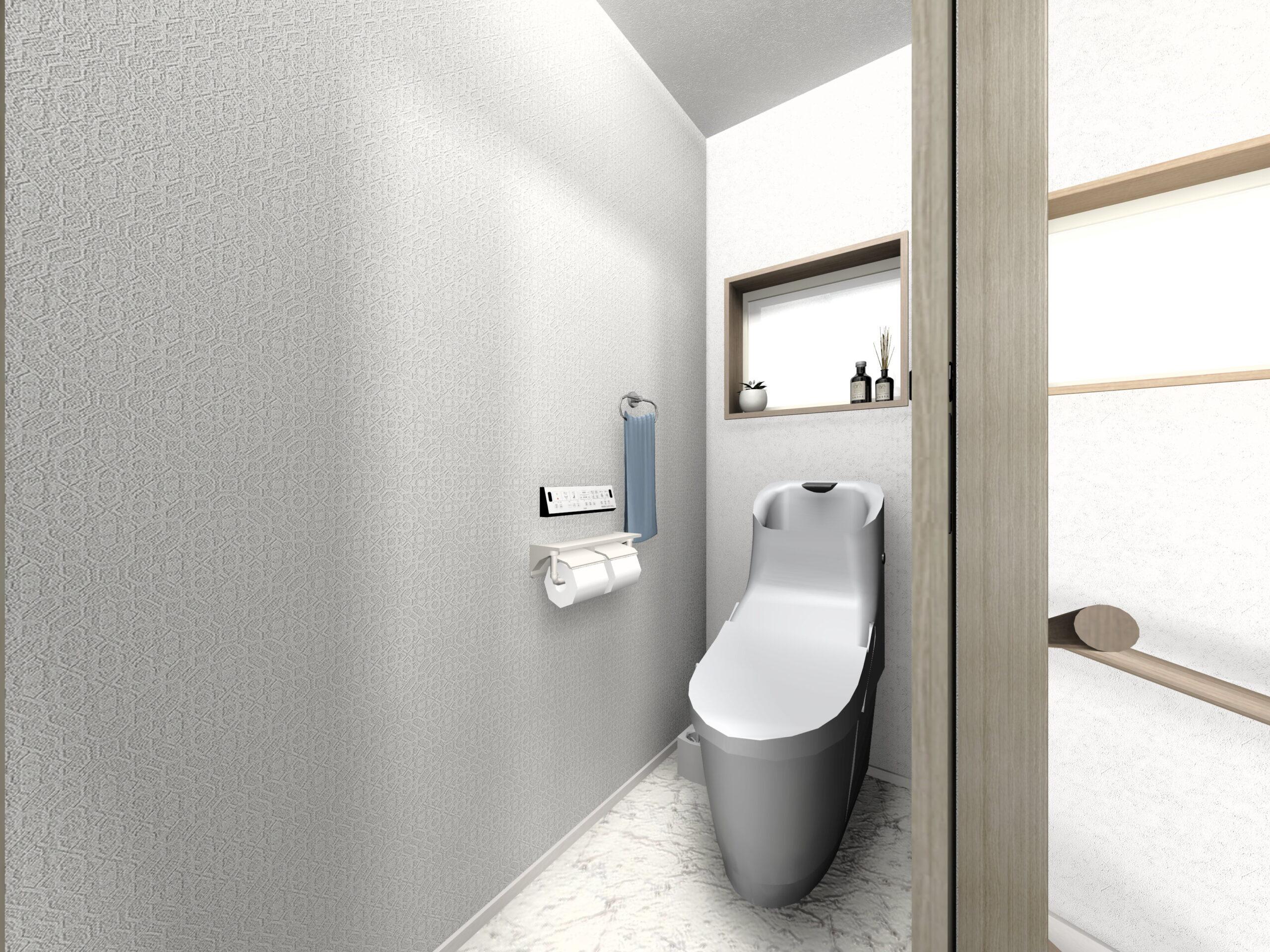 武雄市新築住宅OURS甘久1号地2Fトイレ