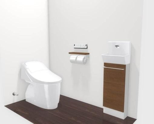 大村市新築建売住宅「OURS福重町3号地」1階トイレ