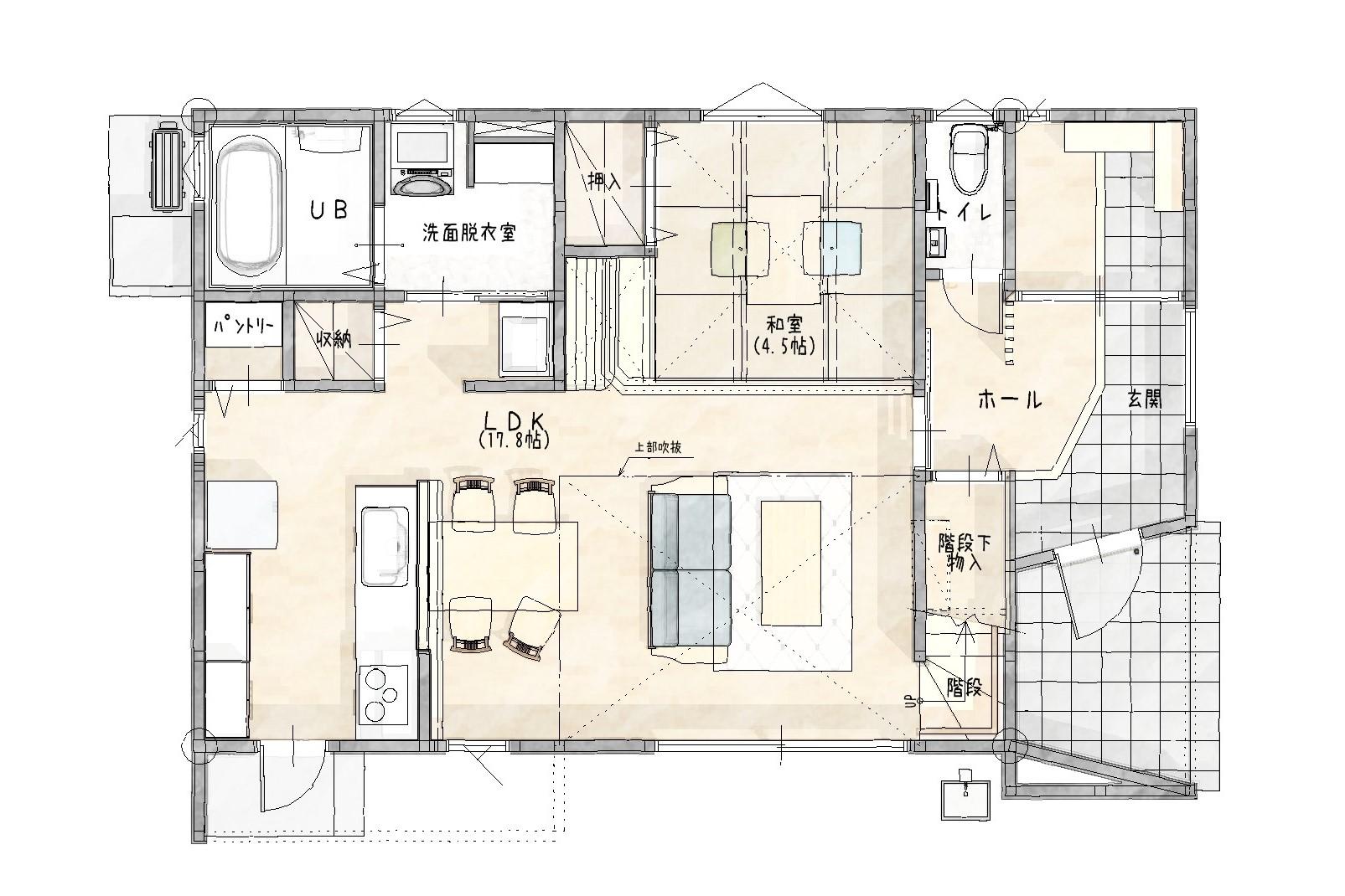 大村市新築建売住宅「OURS協和町」間取り図